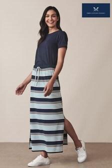 חצאית מקסי ג׳רזי כחולה שלCrewClothing