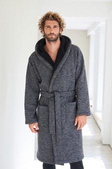 Knit Fleece Lined Dressing Gown