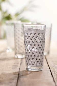 Trinkgläser mit Kachelmuster, 4er-Set