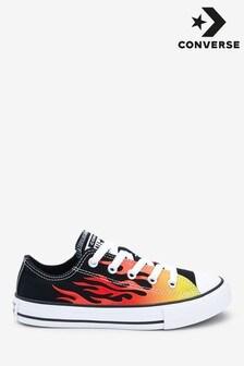 Zapatillas de deporte con diseño de llamas para niños de Converse