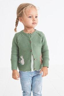 Кардиган с кроликом (3 мес.-7 лет)