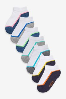 7 Pack Cotton Rich Cushioned Trainer Socks (Younger)