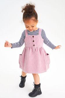 コーデュロイ ジャンパースカート (3 か月~7 歳)