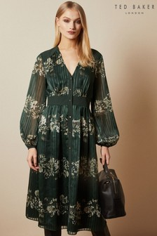 Ted Baker Delyla Meadow Sweep Long Sleeve Midi Dress