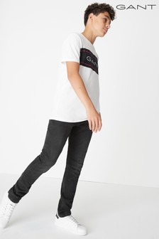 GANT Boys' Black Slim Jean