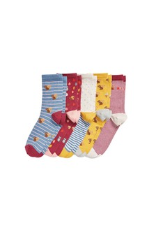 Squirrel Stripe Ankle Socks Five Pack