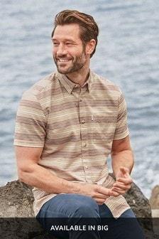 Chemise manches courtes rayée