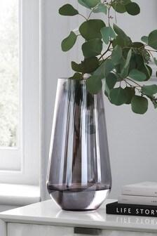 Large Smoke Glass Vase