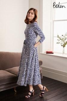 Boden藍色Adora及膝洋裝
