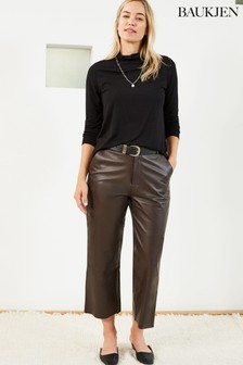 Baukjen Brown Sacha Leather Trousers
