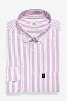 قميصأكسفورد بأزرار طولية سهل الكي