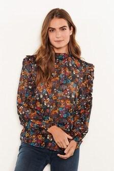 Блузка с длинными рукавами и оборками