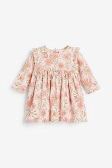 שמלה מבד ג'רזי פרחונית (0 חודשים עד גיל 2)