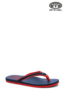 Animal Indigo Blue Jekyl Swish Flip Flops