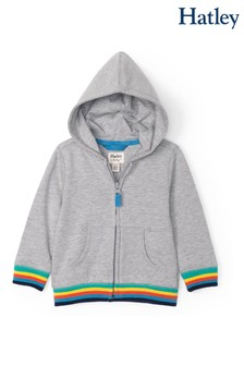 Hatley Grey Retro Stripe Baby Hoody