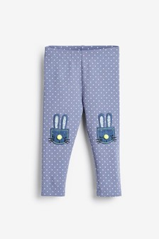 Spot Bunny Embroidered Leggings (3mths-7yrs)
