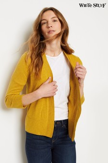 White Stuff Yellow Ocean Cardigan