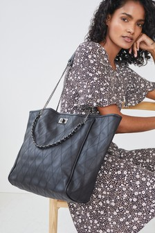 Chain Detail Tote Bag