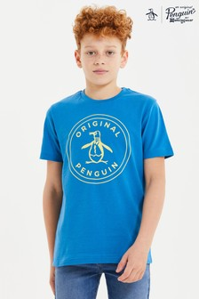 Niebieska koszulka Original Penguin® z logo