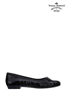 Zapatillas negras con diseño de cocodrilo y orbe Margot de Vivienne Westwood by Melissa