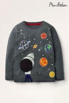 T-shirt Mini Boden gris imprimé phosphorescent