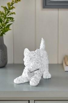 White Mini Walter The Westie Dog Ornament