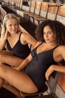 Speedo® Sculpture Watergem Verstellbarer Badeanzug, schwarz