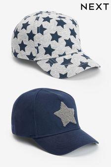 Набор из 2 кепок со звездами (Младшего возраста)