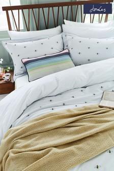 Set of 2 Joules Grey Kelmarsh Bee Housewife Pillowcases