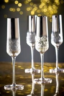 Blair Set of 4 Flute Glasses