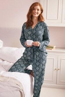 Пижама с пуговицами и мятым эффектом