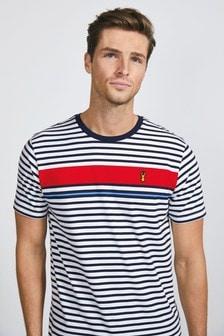 チェストストライプ レギュラーフィット Tシャツ