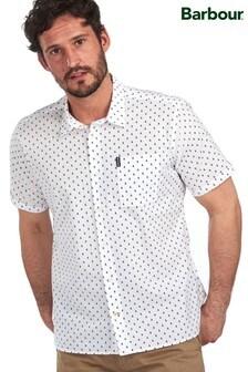 חולצה עם הדפס סירה שלBarbour® בצבע לבן
