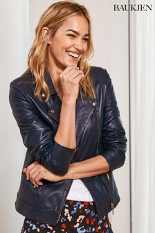 Baukjen Blue Leather Kara Jacket