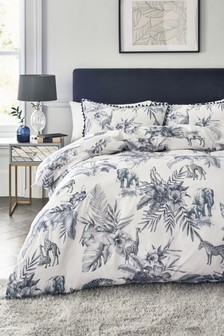 Floral Safari Duvet Cover and Pillowcase Set