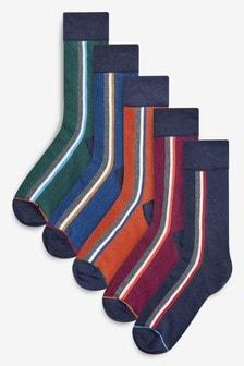 側邊條紋襪五雙裝