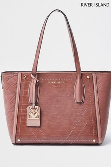 River Island Pink Shopper Bag