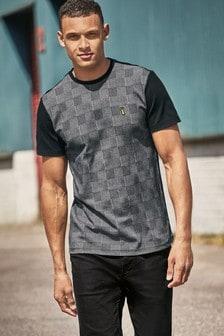 T-Shirt mit karierten Blockstreifen