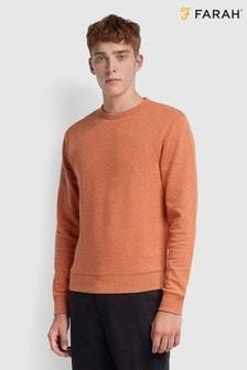 Farah Orange Tim Crew Sweatshirt