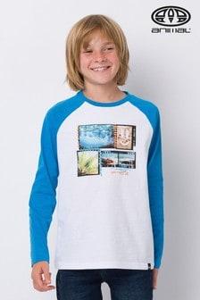 Modré tričko s dlhými rukávmi Animal Create