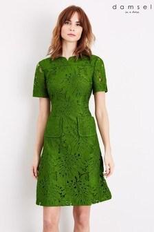שמלת תחרה ירוקה דגם Yazi Palmשל Damsel In A Dress