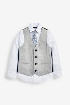 Súprava vesty, košele a kravaty (12 mes. – 16 rok.)