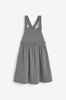 فستان نمط مئزر جيرسيه بتفصيل كشكشة (3-14 سنة)