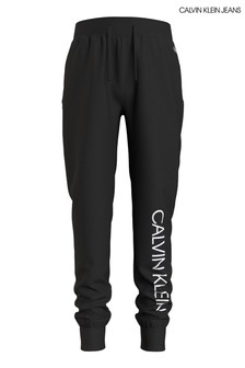 Calvin Klein Jeans Black Institutional Logo Sweatpants