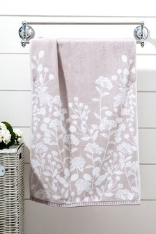 Grey Floral Towels