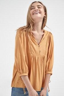 Фактурная блузка без застежек