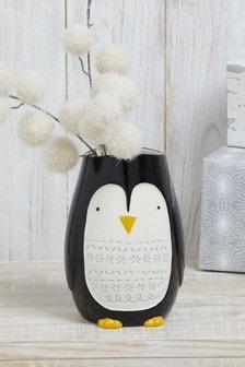 Vaas met pinguïn