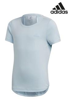 Modré bežecké tričko adidas Performance Heat Ready