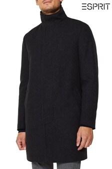 Серое текстильное пальто Esprit