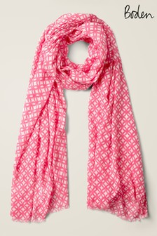 Boden Pink Printed Scarf